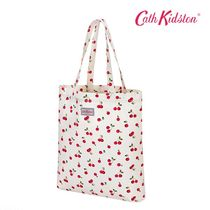 Cath Kidston(キャスキッドソン) トートバッグ Cath Kidston★PERFECT SHOPPER★CHIERRIES キャンバスバッグ