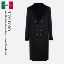 Tom Ford double-breasted cashmere wool blend coat