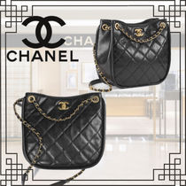 2021AW 新作 CHANEL トート バッグ カーフスキン ロゴ 黒