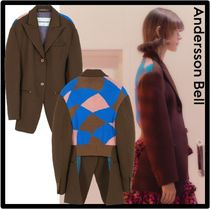 ANDERSSON BELL(アンダースンベル) ジャケット ☆関税込☆ANDERSSON BELL★CTNTHIA KNITTED BACK MIXED JACKE.T