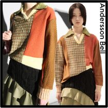 ANDERSSON BELL(アンダースンベル) ニット・セーター 関税込☆ANDERSSON BELL★SIENNA PATCHWORK KNIT POLO SWEATE.R