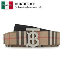 Burberry Embroidered e-canvas belt