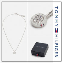 UK発★Tommy Hilfiger 'FAMILY'クリスタルストーン ネックレス S