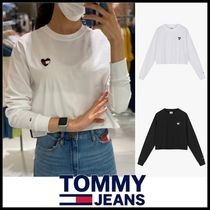 Tommy Hilfiger(トミーヒルフィガー) Tシャツ・カットソー ☆TOMMY JEANS☆ ハートのロゴ クロップ ロンT 長袖Tシャツ ☆