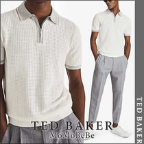 TED BAKER(テッドベーカー) ポロシャツ 【国内発送・関税込】TED BAKER ジップアップシルクポロシャツ