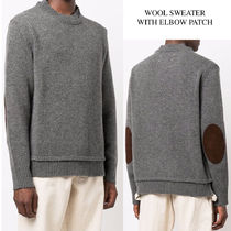 MAISON MARGIELA WOOL SWEATER WITH ELBOW PATCH