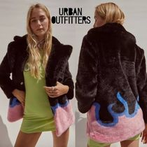 Urban Outfitters(アーバンアウトフィッターズ) ムートン・ファーコート Urban Outfitters by Girlfriend Material★ファーコート