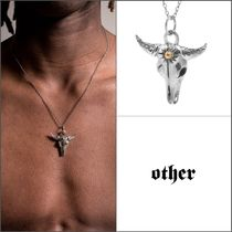 Other UK(アザーユーケー) ネックレス・チョーカー 【Other UK】スターリングシルバー925 BULL ネックレス