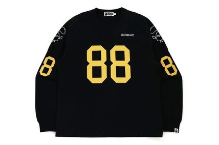 【A BATHING APE】RELAXED FIT FOOTBALL L/S TEE 全2色 在庫確認
