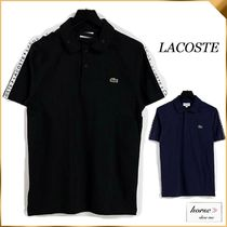 【LACOSTE】  テープ スリーブ ポロシャツ *送料・関税込み