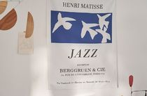 【DECO VIEW】Matisse Blue Jazz Fabric Poster