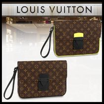 【LOUIS VUITTON】Sロック A4ポーチ クラッチバッグ モノグラム