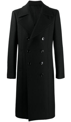 CELINE   DOUBLE BREASTED WOOL-BLEND COAT BLACK ダブル コート