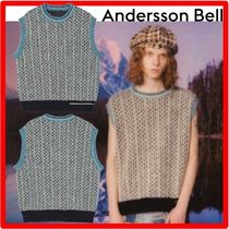 ANDERSSON BELL(アンダースンベル) ベスト・ジレ ★人気★【ANDERSSON BELL】★TUNISIA21 CREW-NECK KNIT VES.T★