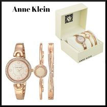 Anne Klein☆スワロフスキー入り ブレスレット&時計セット