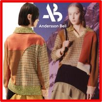 ANDERSSON BELL(アンダースンベル) ニット・セーター ☆【ANDERSSON BELL】☆SIENNA PATCHWORK KNIT POLO SWEATE.R☆