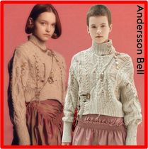 ANDERSSON BELL(アンダースンベル) ニット・セーター ☆人気☆【ANDERSSON BELL】☆LOWELL HAND STITCHED CROP KNI.T