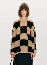 21FW ☆[TheOpen Product] / WOOL BLEND CHECKER BOARD SWEATER