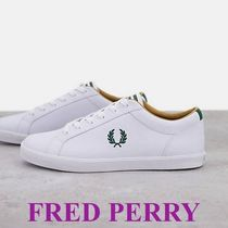 FRED PERRY ロゴレザープリムソール/ホワイト