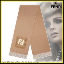 21FW【FENDI】Brown wool and cashmere scarfFF SCARF Brown