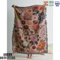 Urban Outfitters Woven Blanket 花柄 ブランケット スロー