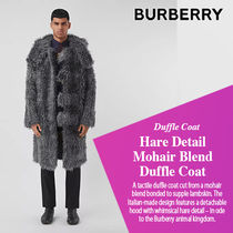 BURBERRY直営店 Hare Detail Mohair Blend Duffle Coat
