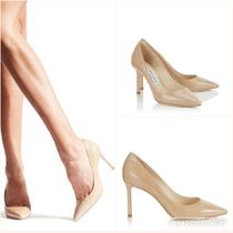 SALE!【JIMMY CHOO】ROMY 85 PATENT LEATHER NUDE