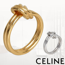 21AW■CELINE■DOUBLE RING WITH KNOT 結び目付き ダブルリング