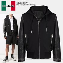 GIVENCHY(ジバンシィ) ブルゾン Givenchy Mix Jersey Leather Blouson