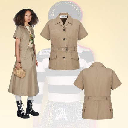 21AW【Dior】VESTE A MANCHES COURTES ベルト付き ジャケット