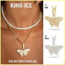 King Ice(キングアイス) ネックレス・チョーカー 送料関税込【King Ice】ICED BUTTERFLY NECKLACE☆(2色)国内発送