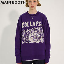 ★MAINBOOTH★Collapse Oversized Sweater(GRAPE)★正規品/人気