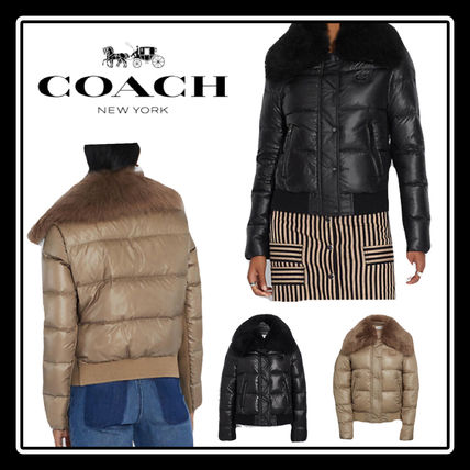 【Coach】SALE!! Puffer Jacket With Shearling ☆◆国内発送◆