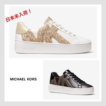 【MICHAEL KORS】Poppy Logo and Faux Leather スニーカー