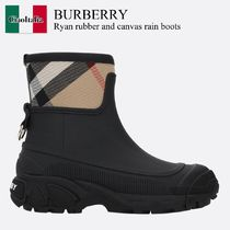 Burberry Ryan rubber and canvas rain boots