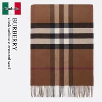 Burberry check cashmere oversized scarf