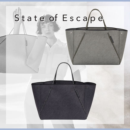 State of Escape トートウォッシュドインクデニムプリント 2色