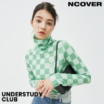 【ncover】3-7日お届け / CHECKER BOARD TURTLENECK KNIT