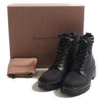 Gianvito Rossi::nylon smooth leather combat boots:39[RESALE]