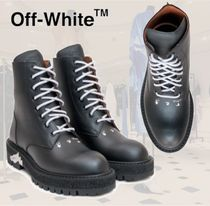 **Off-White**オフホワイト★Boots with Logoレースアップブーツ
