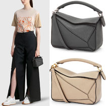 LW044 MINI PUZZLE BAG IN SOFT GRAINED CALFSKIN