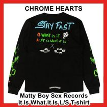 CHROME HEARTS(クロムハーツ) Tシャツ・カットソー Chrome Hearts Matty Boy Sex Records It Is What It Is L/S TEE