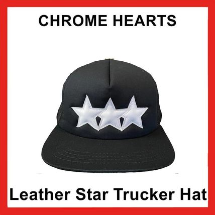 Chrome Hearts Leather Star Trucker Hat