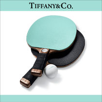 Tiffany&Co ☆Leather and Walnut Table Tennis Paddles☆送料込