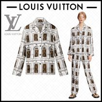 LOUIS VUITTON モノグラム 長袖 シルク パジャマ 白