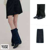 【YUSE】21fw LAYERED DENIM BOOTS COVER