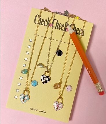 TATIANA☆Lock and Smile Checkboard Necklace 全6種