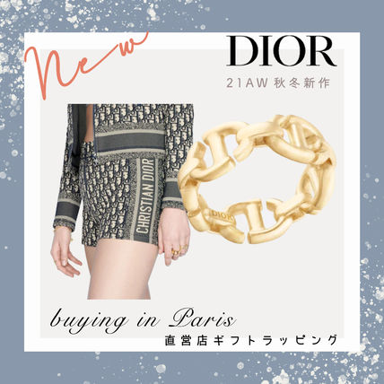 【Dior】CD NAVY リング ロゴ ゴールド◆パリ買付◆