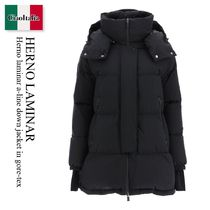 Herno laminar a-line down jacket in gore-tex