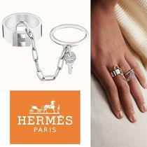 【HERMES】Alphakelly double ring, small model Silver リング